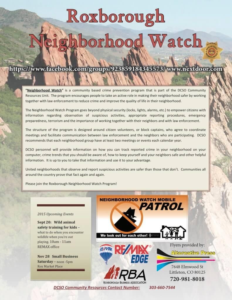 Roxborough Neighborhood Watch