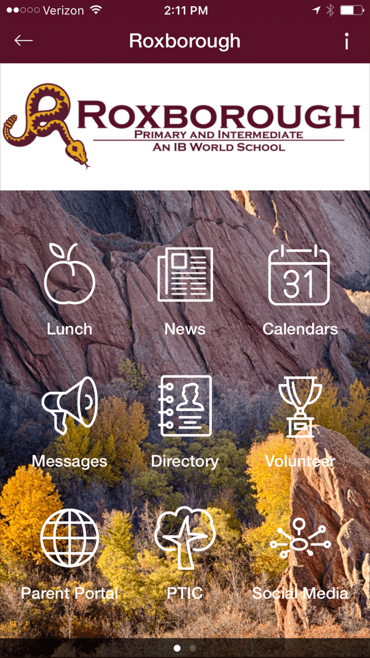Check out the new Roxborough Elementary Mobile App